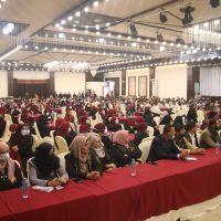 حفل تقديم منح نقدية لطلبة الجامعات في قطاع غزة.