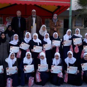 الرابطة الإسلامية تكرم المتفوقات في مدارس محافظة الوسطى