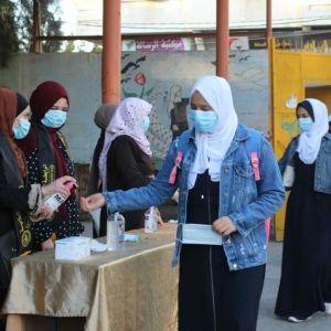 الرابطة الإسلامية تستقبل طالبات الثانوية العامة في منطقة التركمان .