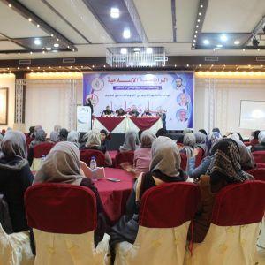 """الرابطة الإسلامية تختتم فعاليات مخيم """"بناء وعطاء"""" لطالبات الجامعات بقطاع غزة"""