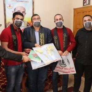 الرابطة الإسلامية تشرع بزيارات طلبة الثانوية العامة ضمن حملة نجاحك بهمنا قطاع غزة.