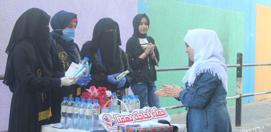 الرابطة الإسلامية تستقبل طالبات الثانوية العامة في شمال غزة