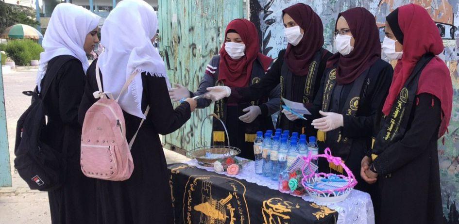 الرابطة الإسلامية تستقبل طالبات الثانوية العامة في محافظة الوسطى