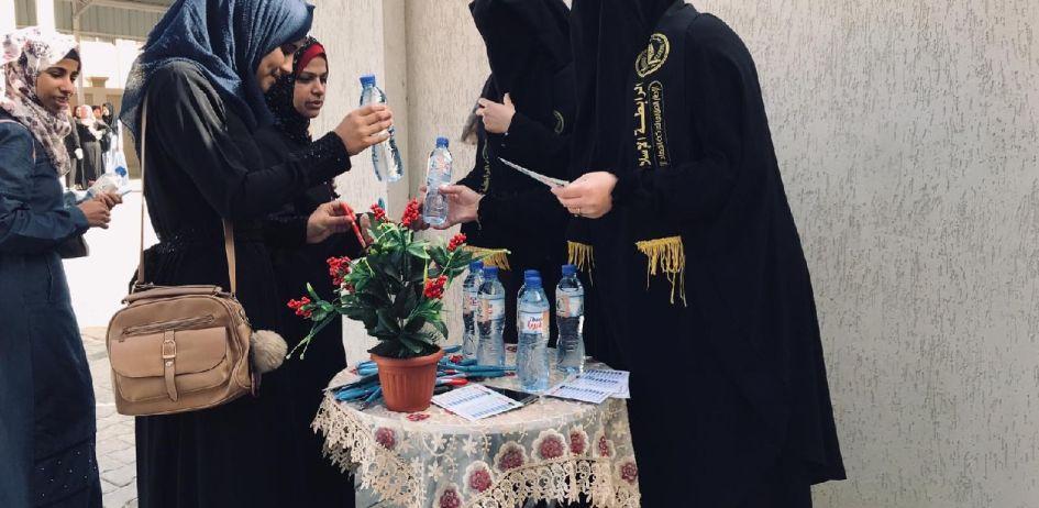 الرابطة الإسلامية تستقبل طالبات الثانوية العامة في خانيونس