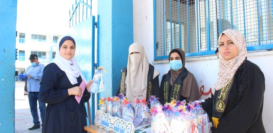 الرابطة الإسلامية تستقبل طالبات الثانوية العامة في محافظة غزة