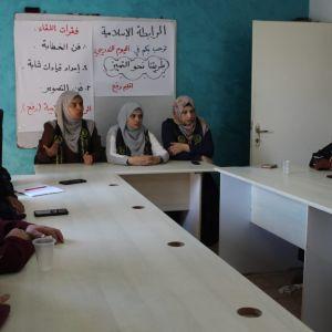 الرابطة الإسلامية تنظم يوم تدريبي لكادرها في ملف المدراس برفح