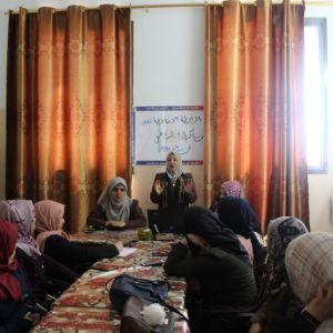 الرابطة الإسلامية تنظم يوم تدريبي لكادرها في ملف المدراس بشمال غزة