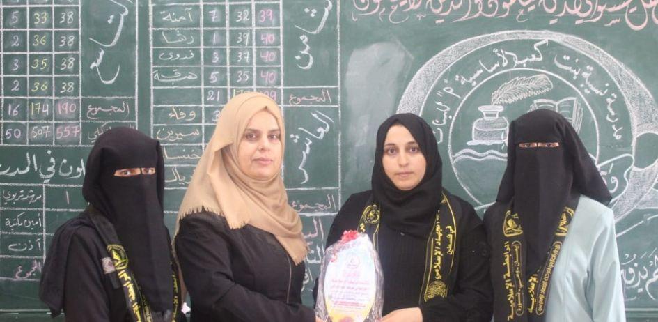 الرابطة الإسلامية تنظم سلسلة زيارات لمدارس طالبات شمال غزة