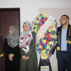 الرابطة الإسلامية تزور الطلبة المتفوقين في الثانوية العامة في غزة