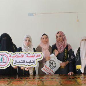 الرابطة الإسلامية تزور طالباتها في جامعات شمال غزة