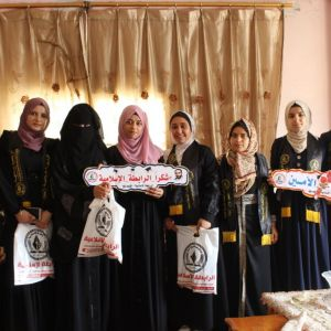 الرابطة الإسلامية تزور طالباتها في جامعات رفح