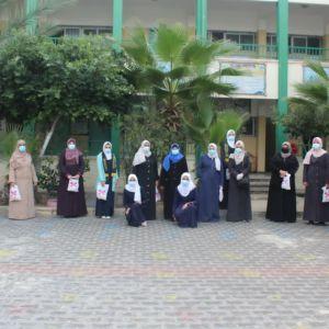 """الرابطة الإسلامية تنظم حملة بعنوان """" هدية محبة وتقدير"""" في مدارس الوسطى"""