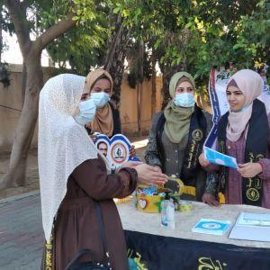 الرابطة الإسلامية تستقبل طالبات كلية الدعوة في الوسطى.