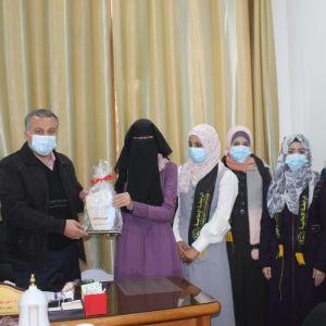 الرابطة الإسلامية تنظم زيارة تعاونية لمدير شؤون الطلبة في جامعة الأقصى.