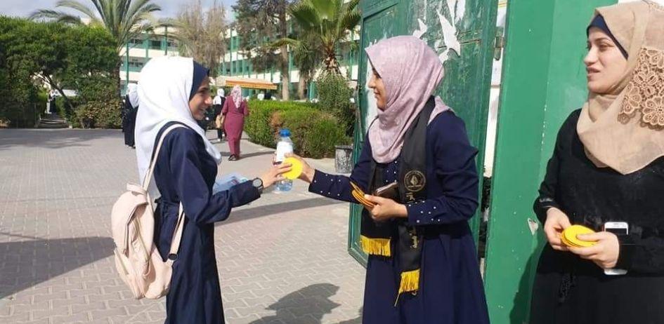 الرابطة الإسلامية تطلق حملة استقبال لطالبات الثانوية العامة بالوسطى