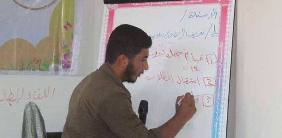 الرابطة الإسلامية تعقد لقاء تدريبي لأمراء المدارس شمال غزة