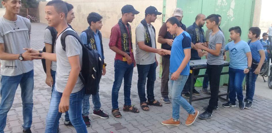 الرابطة الإسلامية تستقبل طلبة المدارس في غزة