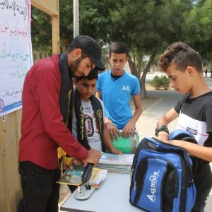الرابطة الإسلامية تطلق حملة دبوسك علينا في مدارس خانيونس