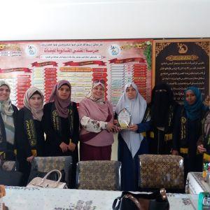 الرابطة الإسلامية تنظم زيارة لمدارس الطالبات برفح