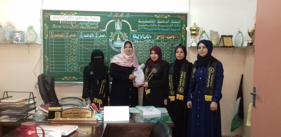 الرابطة الإسلامية تنظم سلسلة زيارات لمدارس الطالبات شمال غزة