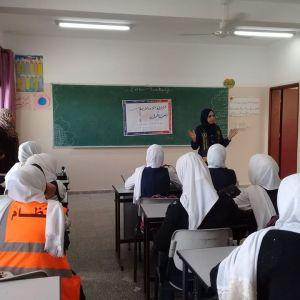 الرابطة الإسلامية تنظم ورشة عمل لطالبات مدرسة الشيماء شمال غزة