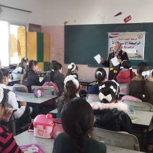 الرابطة الإسلامية تنظم لقاء ترفيهي في مدرسة رابعة العدوية برفح
