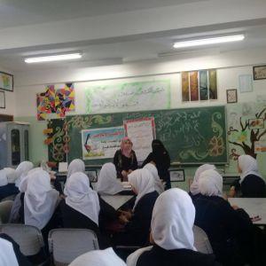الرابطة الإسلامية تنظم ندوة توعوية بمدرسة مريم فرحات الثانوية برفح