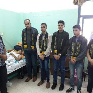 الرابطة الإسلامية تزور الجريح هاني المصدر بالوسطى