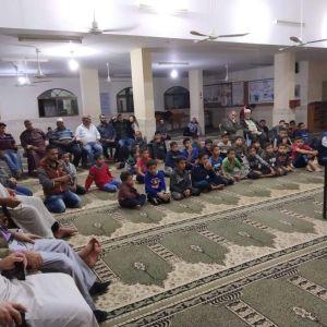 الرابطة الإسلامية تنظم أمسية دينية في مسجد التوحيد بشرق غزة