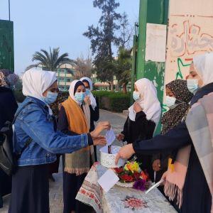 الرابطة الإسلامية تستقبل طالبات مدارس الوسطى