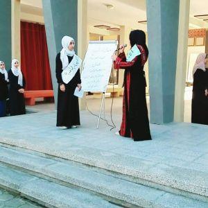 الرابطة الإسلامية تنظم اذاعة مدرسية للطالبات شمال القطاع