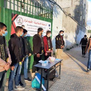 الرابطة الإسلامية تستقبل الطلبة في مدارس محافظة غزة