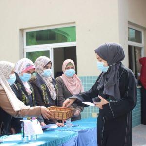 الرابطة الإسلامية تطلق حملة مواصلة الكفاح طريق للنجاح في جامعات غزة.
