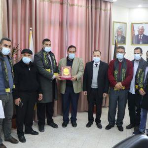 وفد من الرابطة الإسلامية يزور جامعة الاقصى بغزة