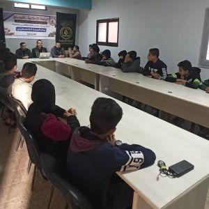الرابطة الإسلامية تنظم ندوة لطلاب المدارس برفح