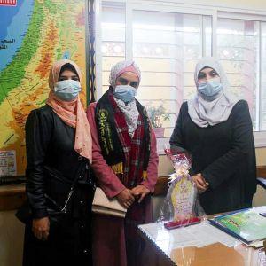 الرابطة الإسلامية تزور إدارة مدرسة مساعد في الوسطى