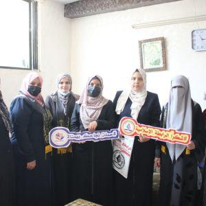 الرابطة الإسلامية تفتتح سلسلة زيارات حملة نجاحك بهمنا 2 في قطاع غزة
