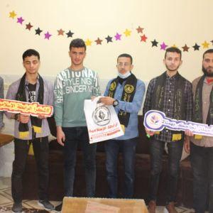 بالصور : الرابطة الإسلامية تزور طلبة الثانوية العامة في الوسطى