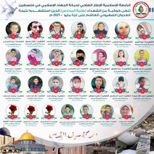 الرابطة الإسلامية تنعى كوكبة من الشهداء طلبة المدارس في معركة سيف القدس