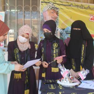 استقبلت الرابطة الإسلامية الإطار الطلابي لحركة الجهاد الإسلامي اليوم الطالبات  الجدد في جامعة الأقصى فرع الجنوب