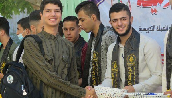 الرابطة الإسلامية تستقبل الطلبة في الجامعة الإسلامية بخانيونس