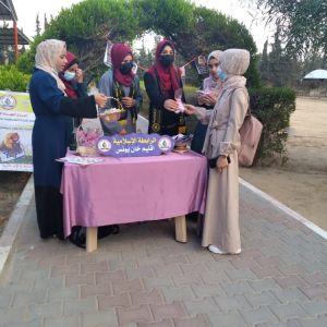 الرابطة الإسلامية تستقبل الطالبات في كلية فلسطين للتمريض بخانيونس