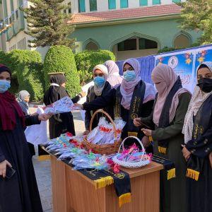 الرابطة الإسلامية تستقبل طالبات الكلية الجامعية بغزة