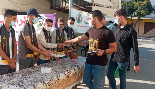 الرابطة الإسلامية تستقبل الطلبة في كلية مجتمع الأقصى بخانيونس