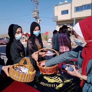 الرابطة الإسلامية تستقبل الطالبات في جامعة الأزهر بالوسطى
