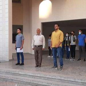 بالصور : الرابطة الإسلامية تنظم إذاعة مدرسية بمدرسة مسقط الثانوية شمال غزة