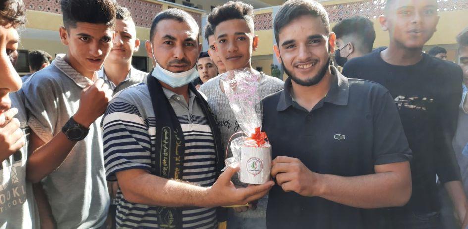 بالصور / الرابطة الإسلامية تنظم مسابقة تجوالية في مدرسة بيت لاهيا شمال غزة .