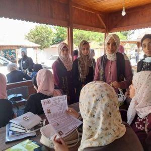 الرابطة الإسلامية تنظم جولة ميدانية في الكلية العربية برفح.