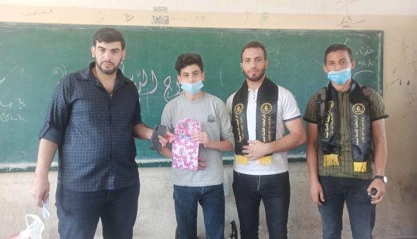 بالصور / الرابطة الإسلامية تنظم مسابقة تجوالية في مدرسة خليفة بن زايد شمال غزة .