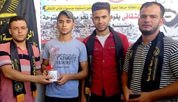 بالصور / الرابطة الإسلامية تنظم مسابقة تجوالية في مدرسة أسامة بن زيد شمال غزة .